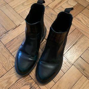 Dr. Martens Flora GreenBlack Chelsea Boot